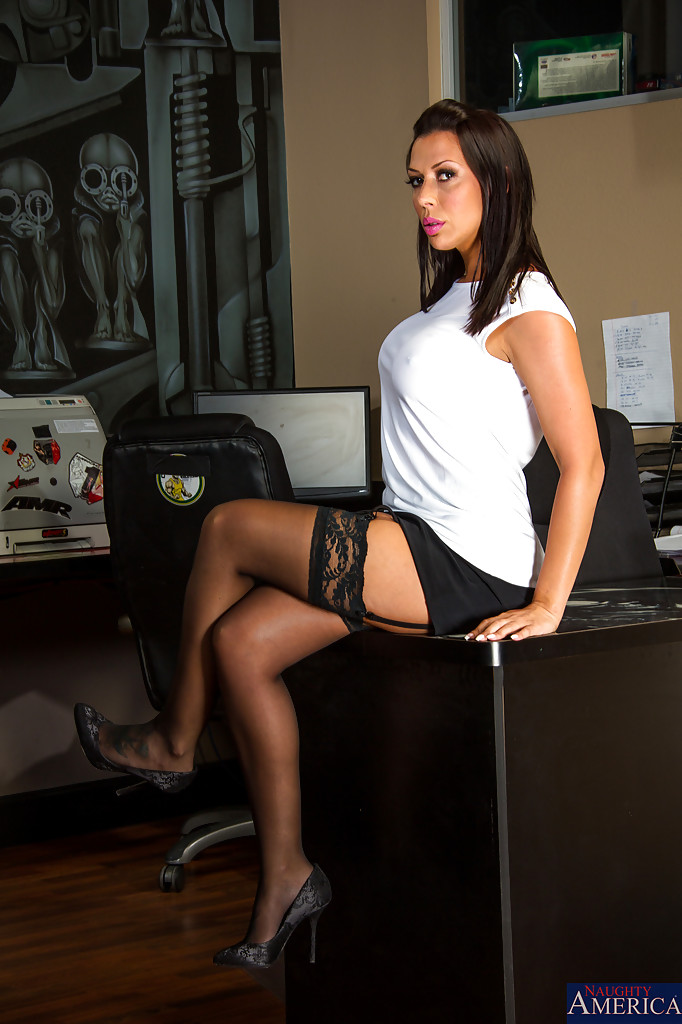 Looking sexy secretary video clip Very horny video