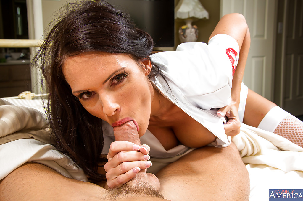 Nurse gives blowjob