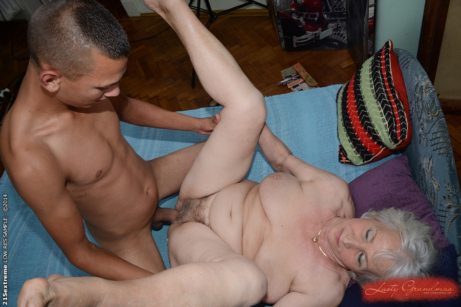 60 grandma enjoys dildo and young man039s cock 5