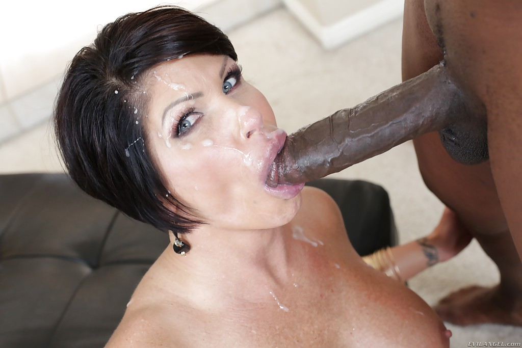 Three Cocks For A Brunette Mature