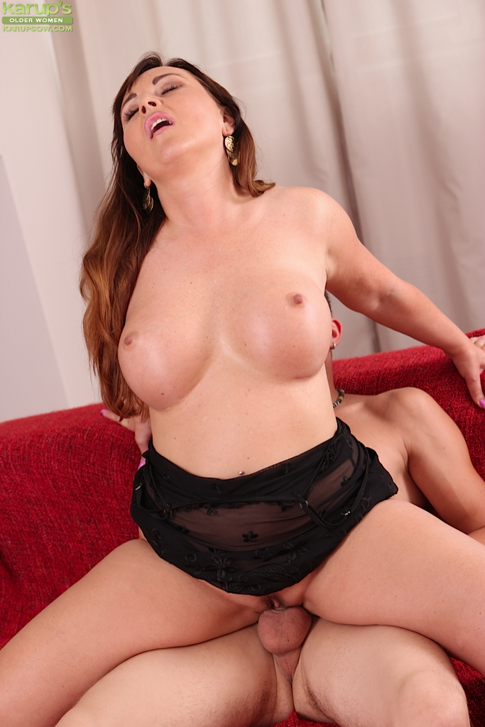 image Brunette cougar has a great time with the black guy