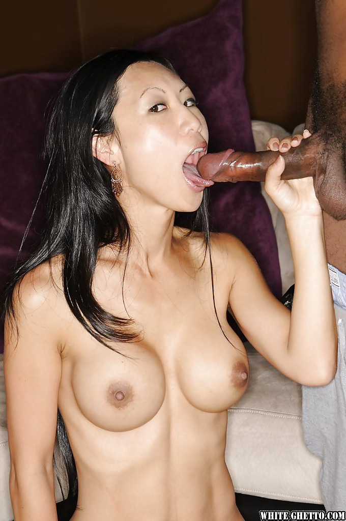 Interracial sex scene features Asian milf with big tits ...