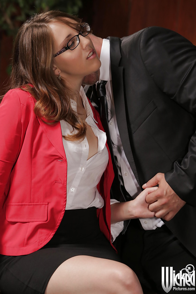 Naughty office secretary in glasses India Summer gets shafted hardcore  1852074