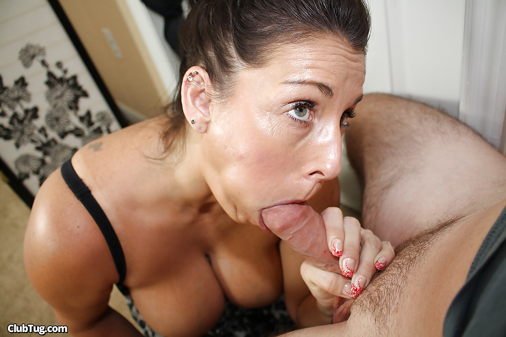 Huge naturals blowjob