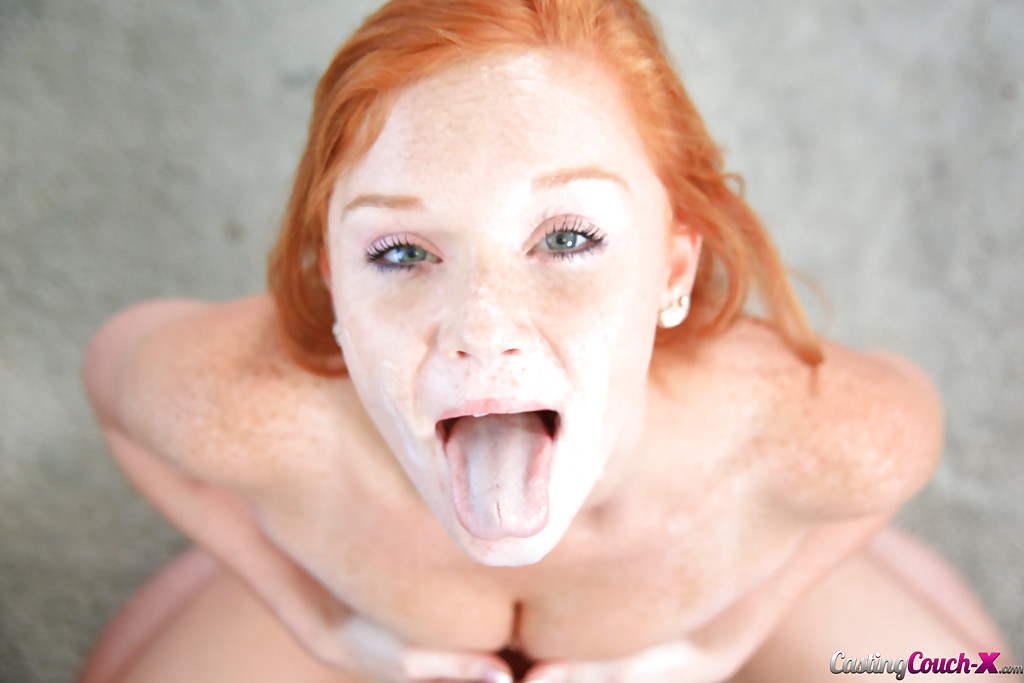 Sweet redhead girl gets ass drilled by russian guy 6