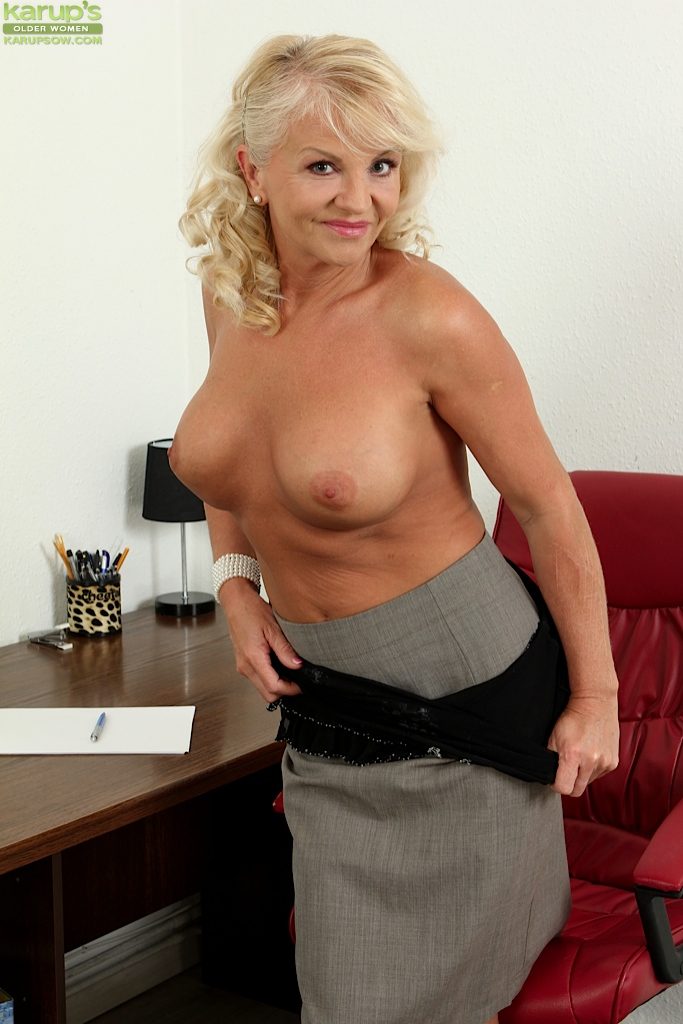 Mature office blonde
