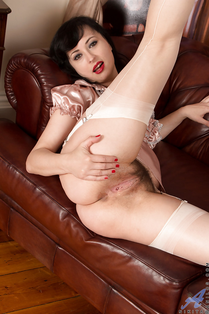 With pussy hairy brunette mature