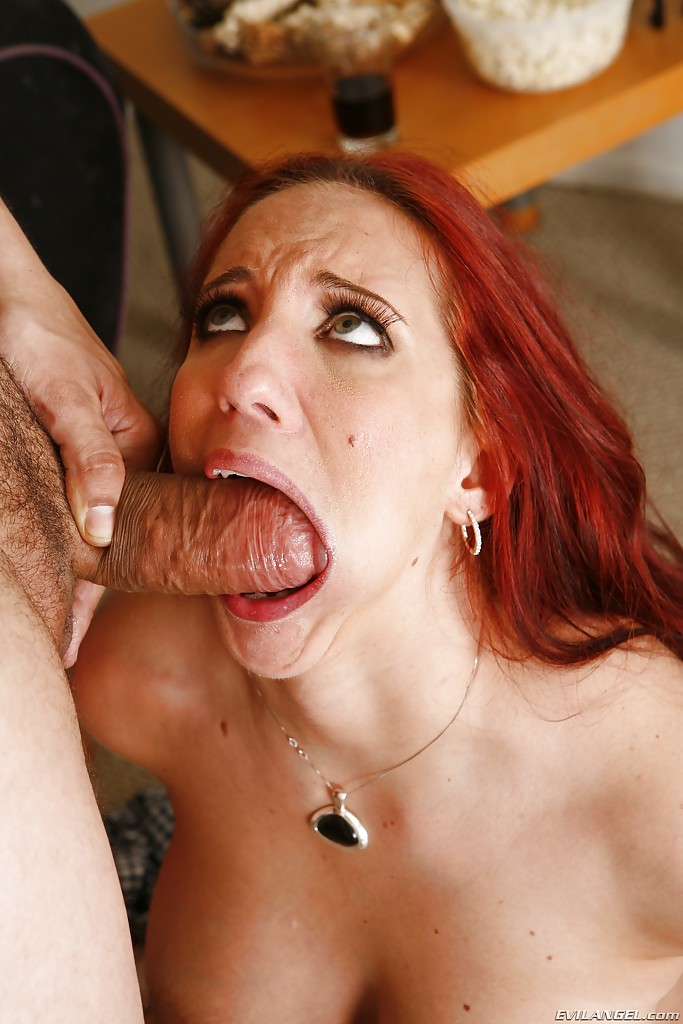 Redhead beauty fucking swallowing