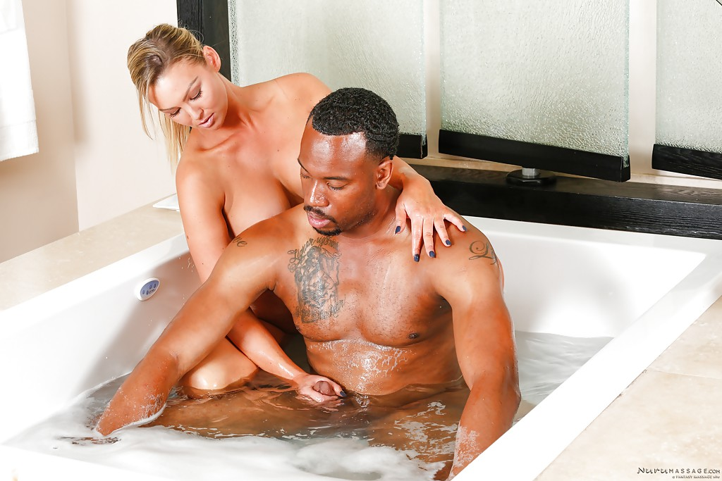 interracial massage porn