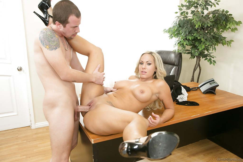 Office milf works pussy to orgasm 5