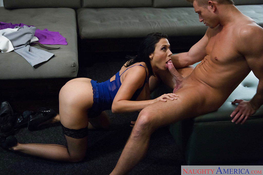 Oral sex and stockings