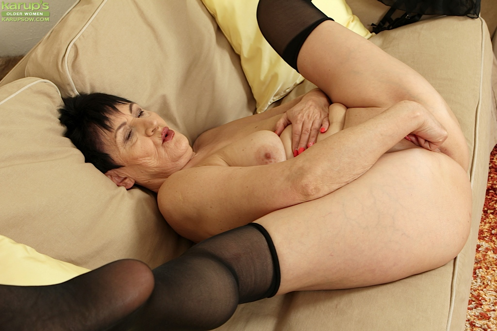 woman Sexy masturbating mature