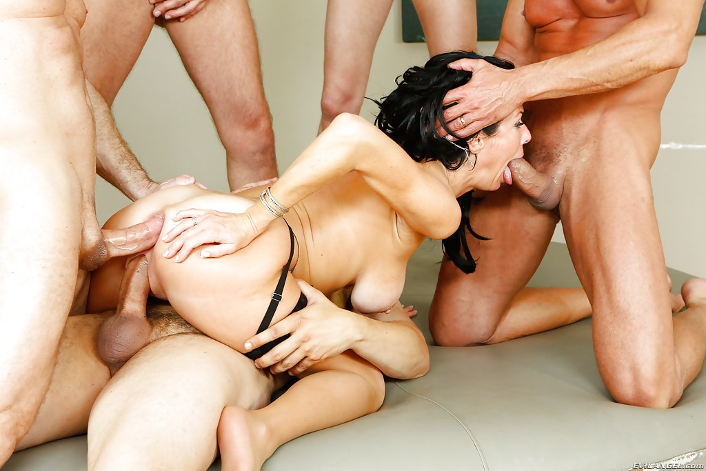 German Teen Gangbang and many Cumshot on Body and face