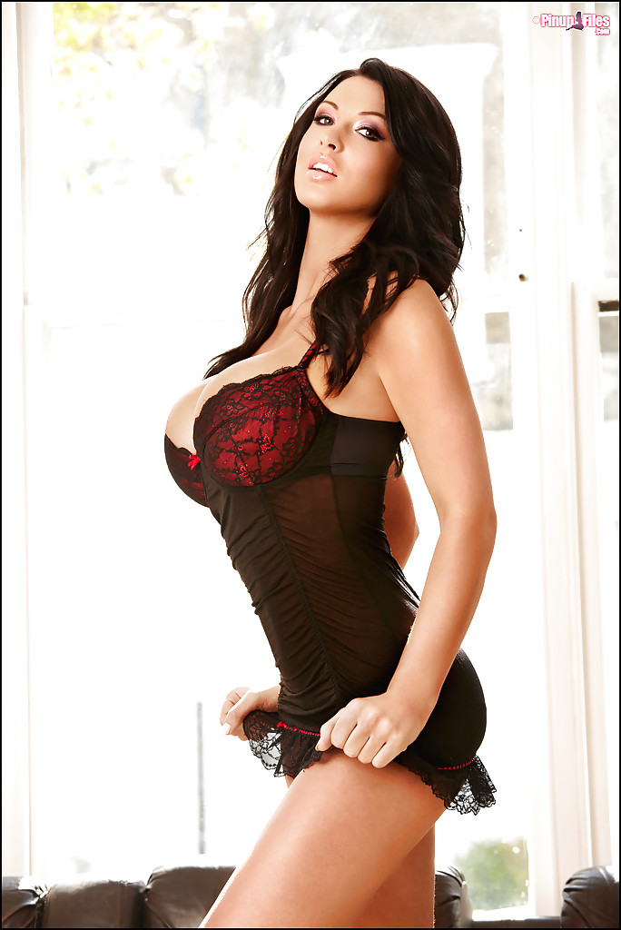 Busty brunette model Alice Goodwin unleashes all natural boobs  1258381