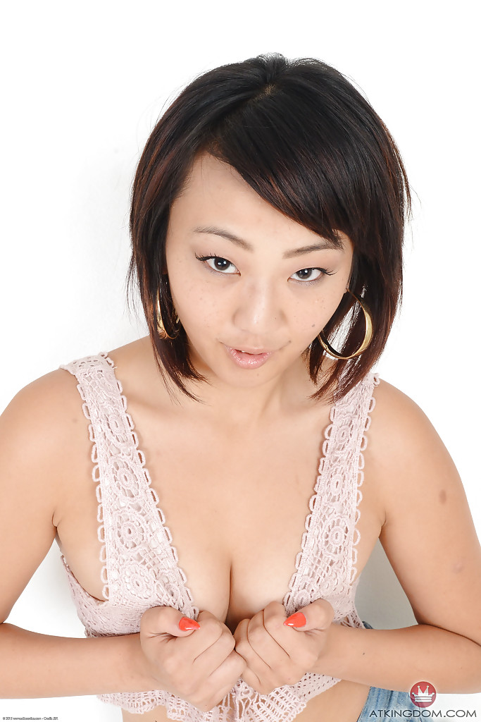 Amateur Asian model Miko Dai pulling panties aside to spread pussy and ass  699785