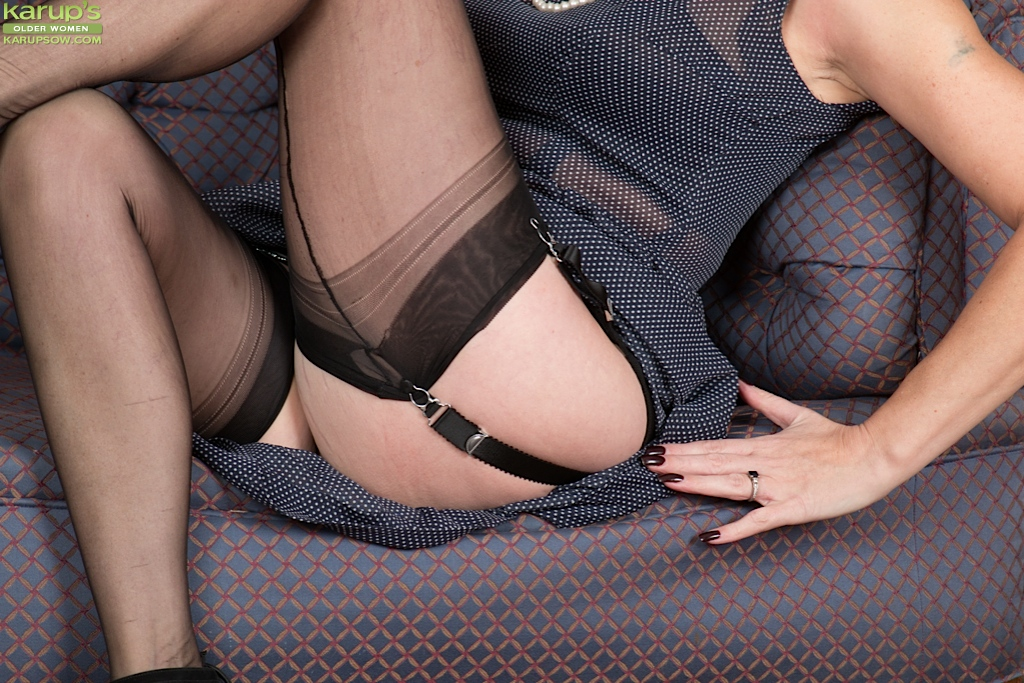 mature women in garters