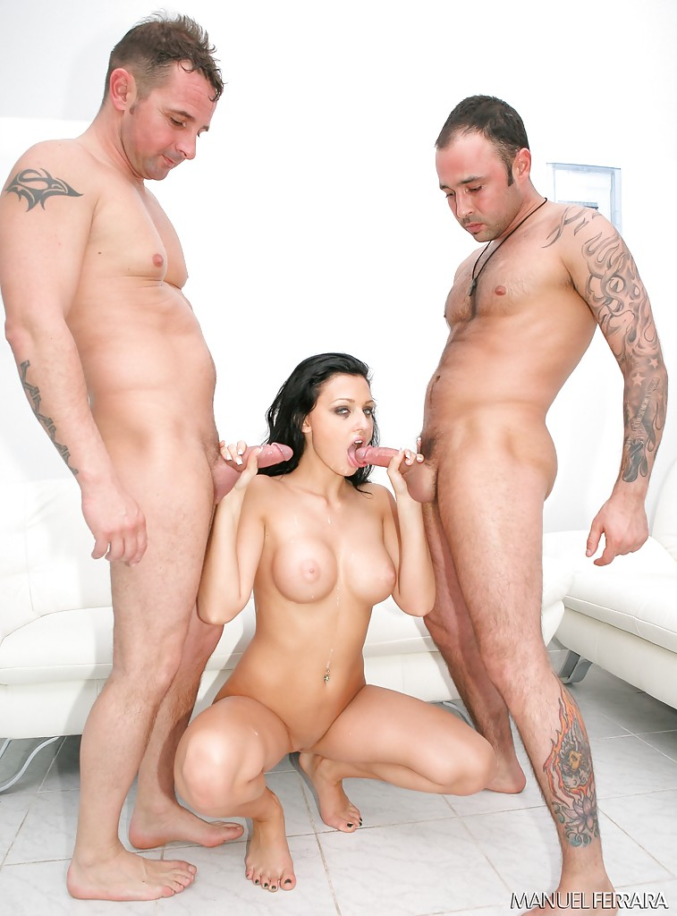 Mmw threesome with two giant dicks for a cute overweight perky tit blonde - 1 6