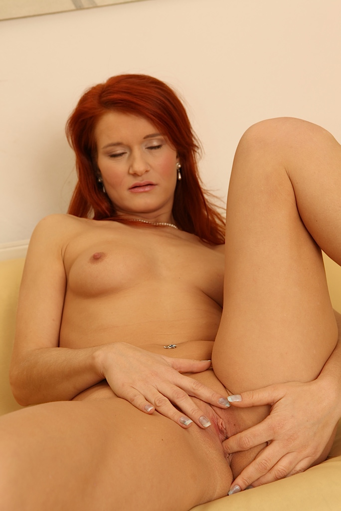 Redhead solo panties