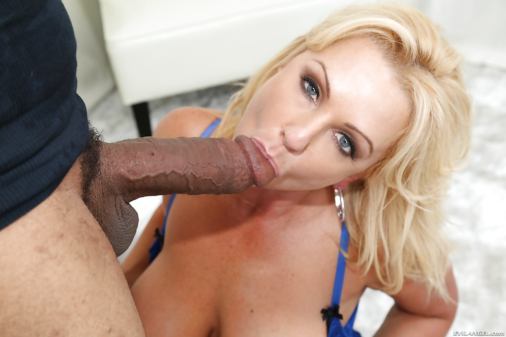 Blonde milf blowjob big dick