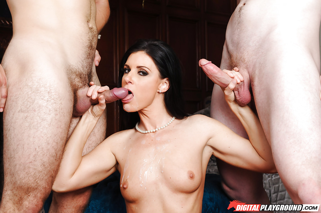 sucking multiple cocks Milfs