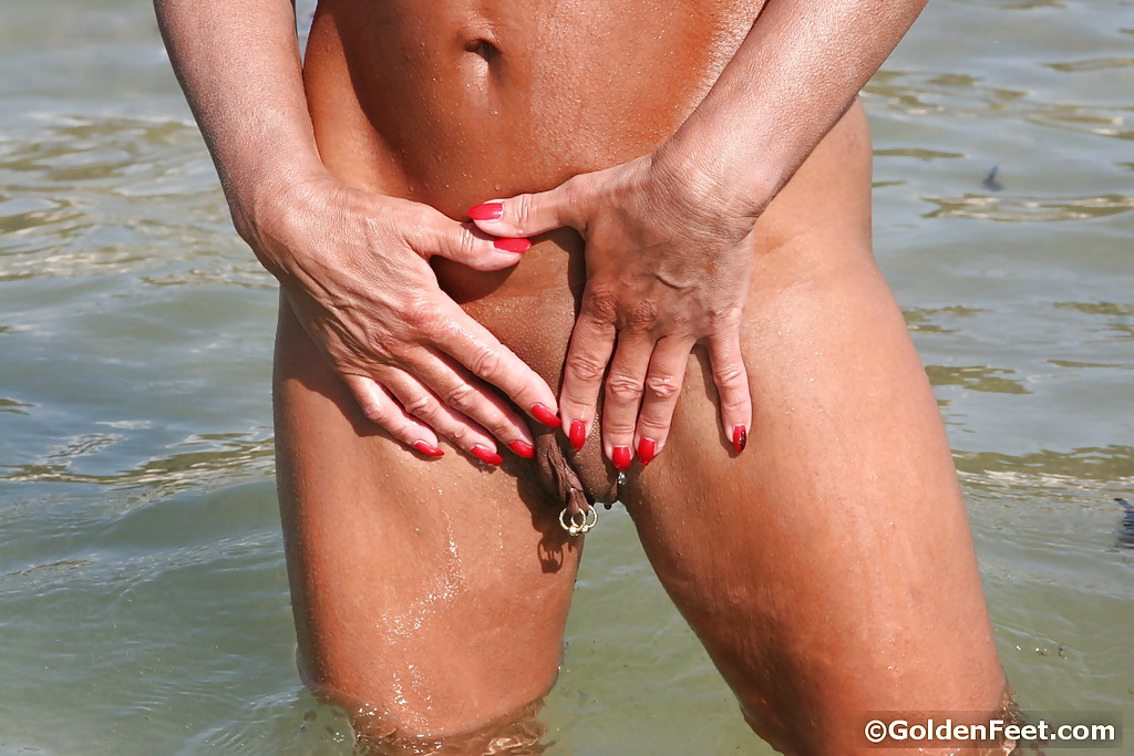 Little body ladies nude on beach
