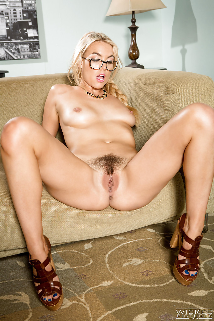Are Hot blonde spreading pussy Hairy porn pictures