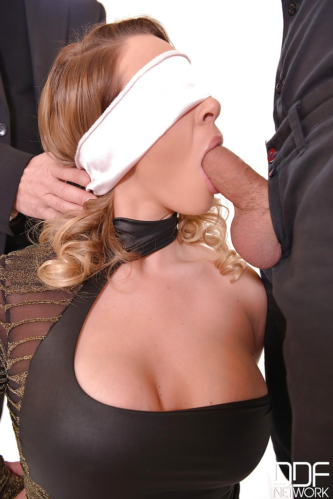 Blindfolded blowjob