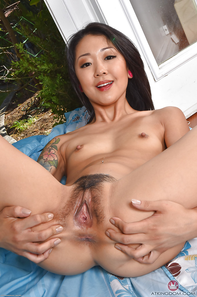 Hot asian pussy spread