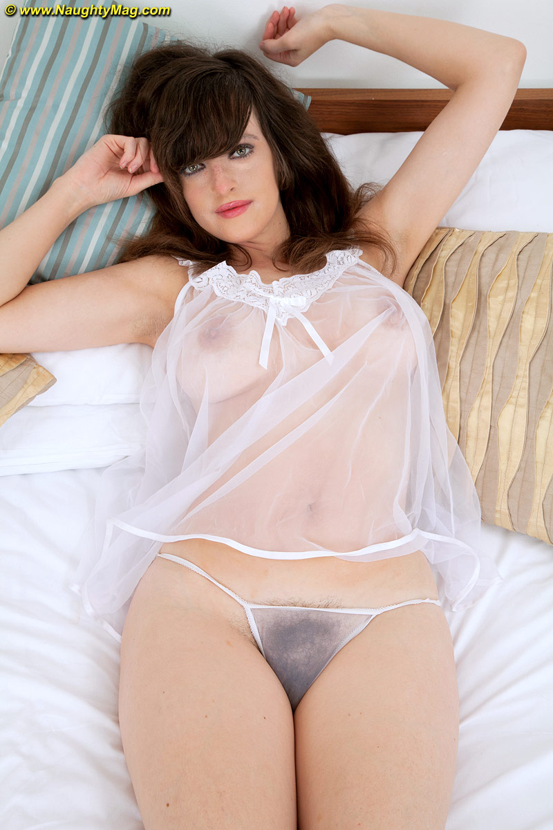 Nightgown amateur sheer lingerie