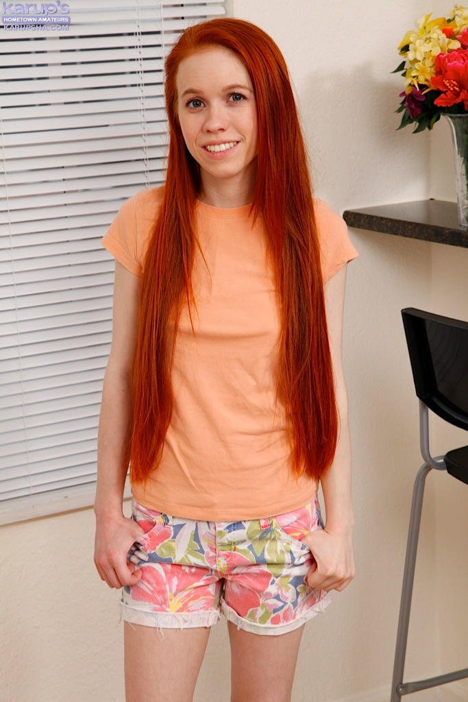 Cute redhead uncovers her big teen tits before giving the finger № 238873 загрузить