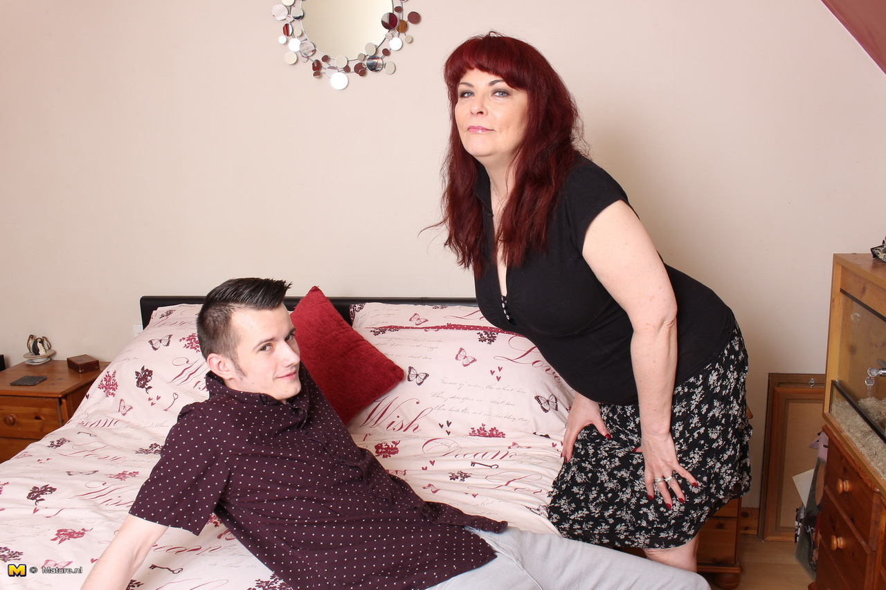 Dark haired middle-aged lady Karen Kougar undresses and toys her horny snatch  1395319