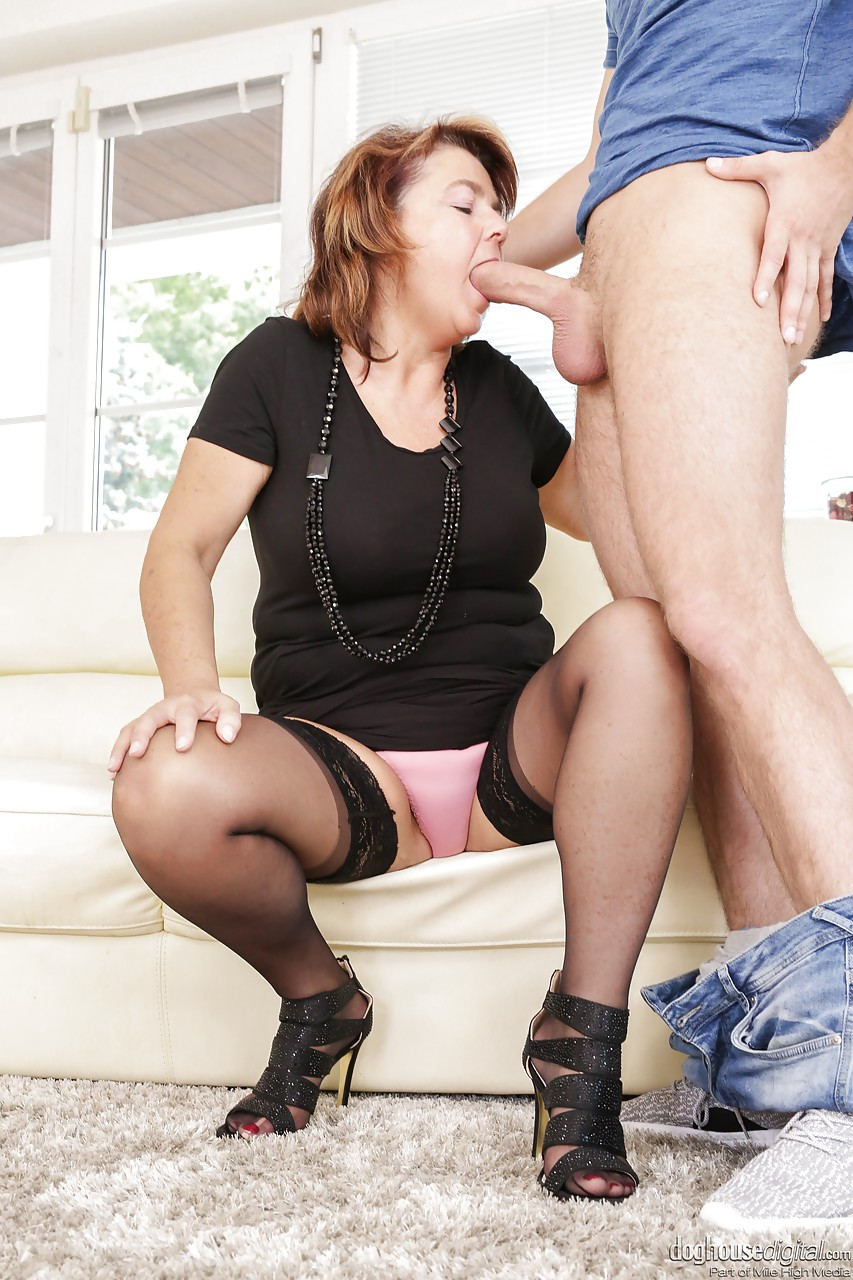 Bbw granny with horny boy part 1 6