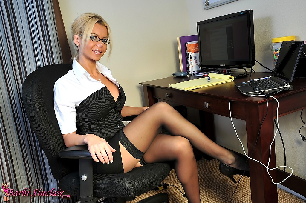 Milf secretary stocking