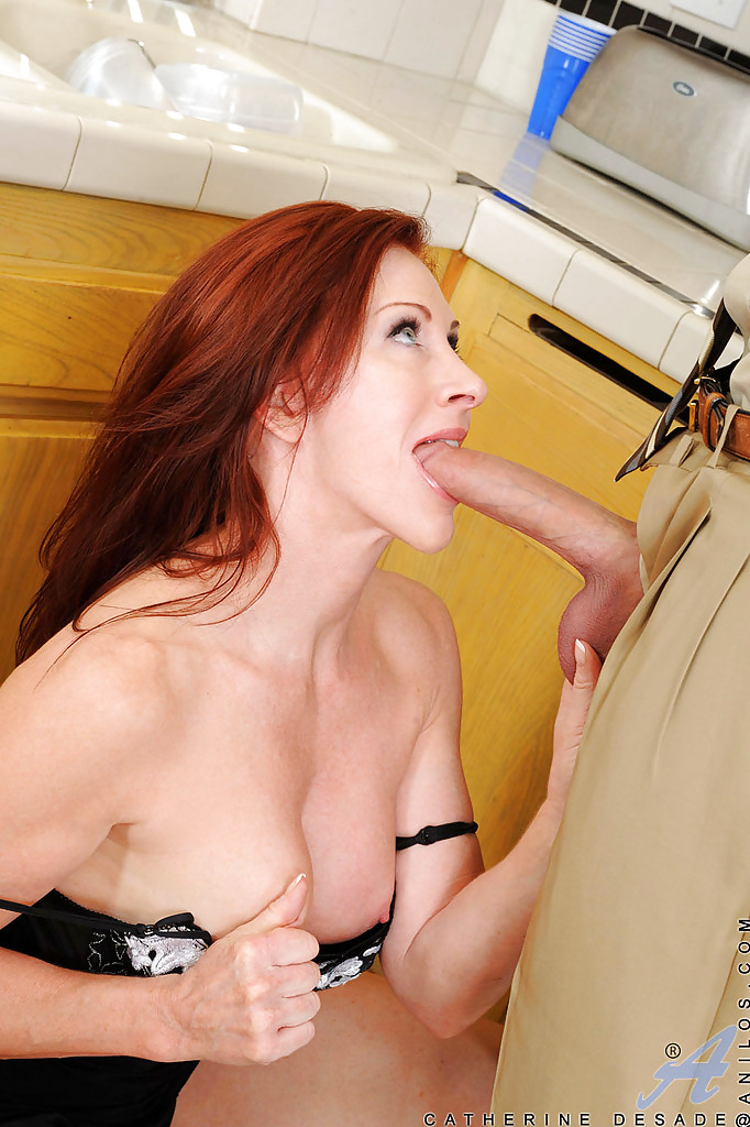 Red milf on counter home nude huge