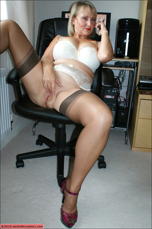 Nylon white milf has