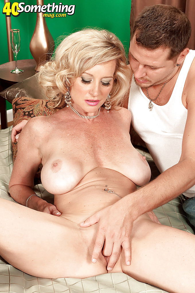 Busty cougar and her toyboy outdoor - 2 part 7