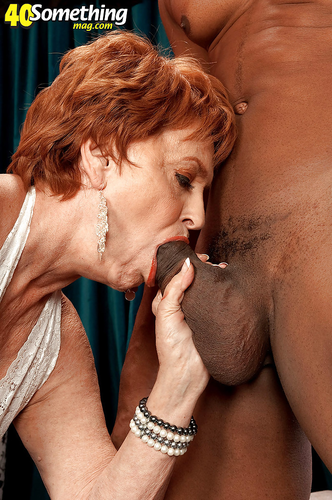 Black cock old woman