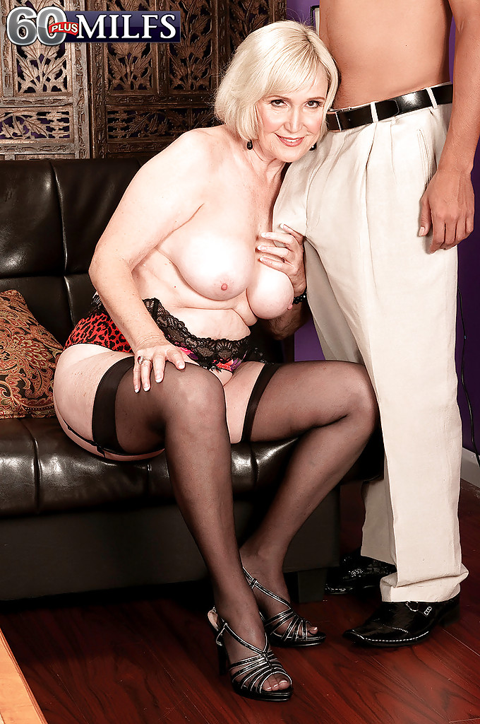 Granny stocking milf
