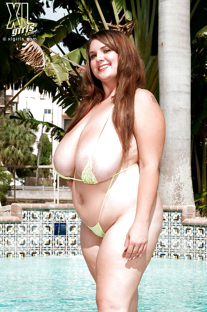 Big woman in bikini