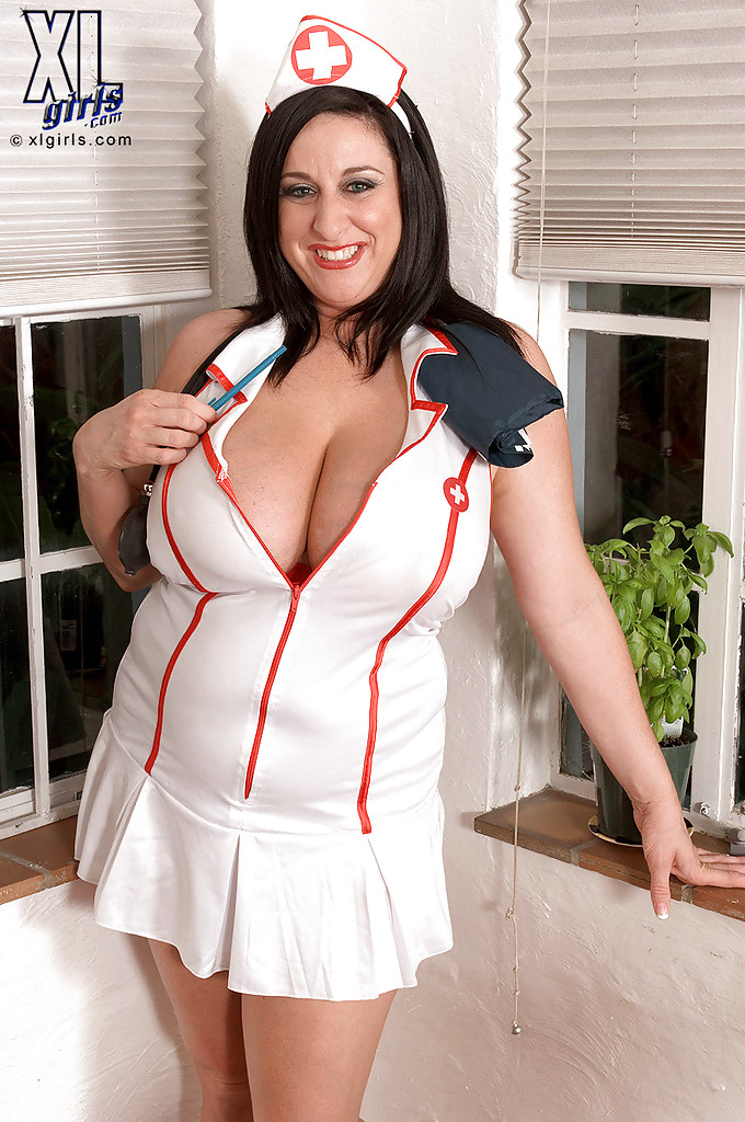 Women in nurses uniform sex