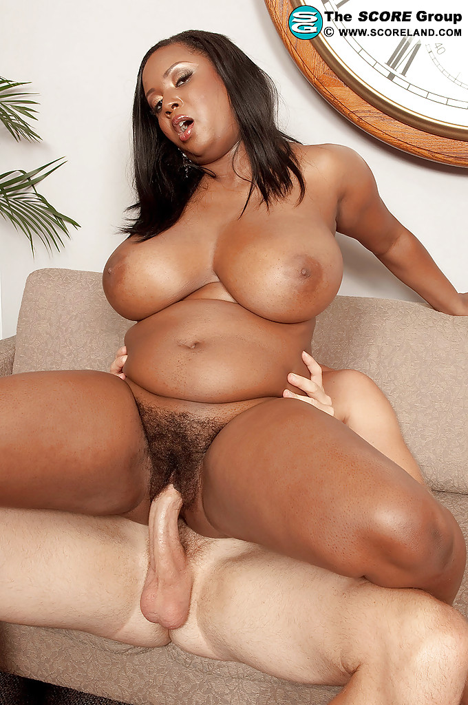 Busty ebony slut filled by black cock