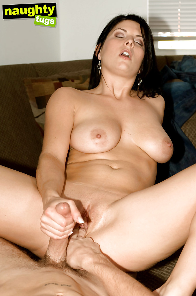 Delightsome girl Erin Marxxx giving handjob and gets her tits covered in cum