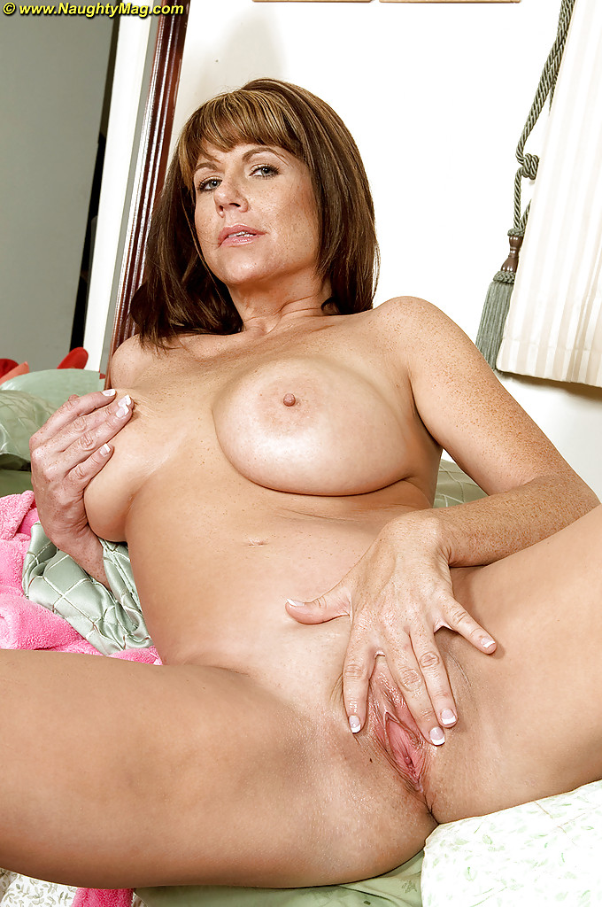 British milf walks around naked