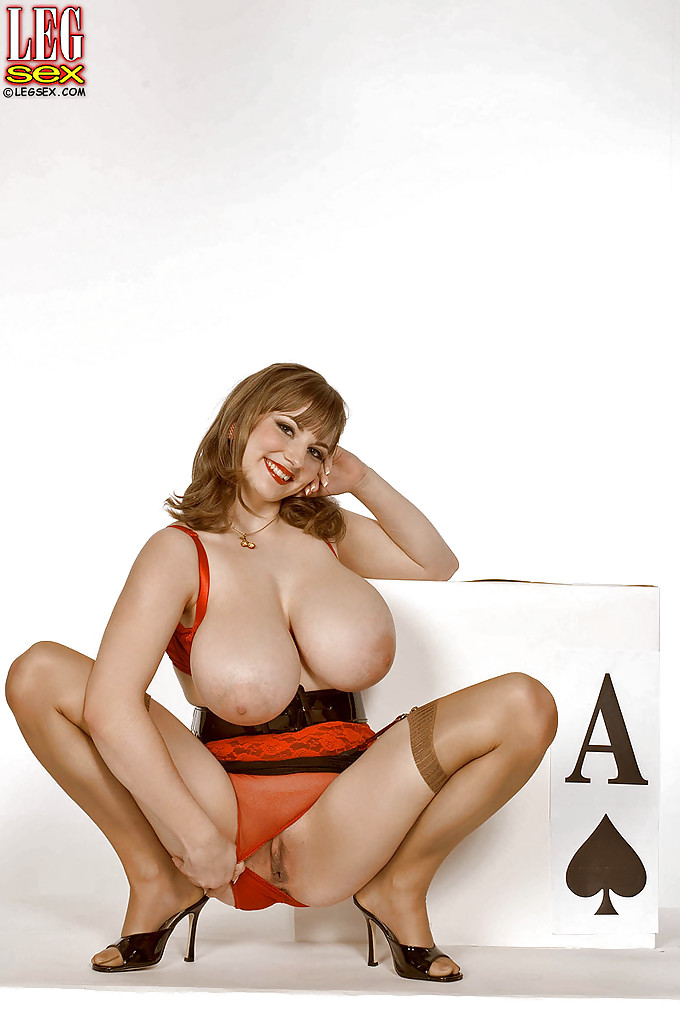 Heavily busty girl Christy Marks brings out fat tits and posing in nylons