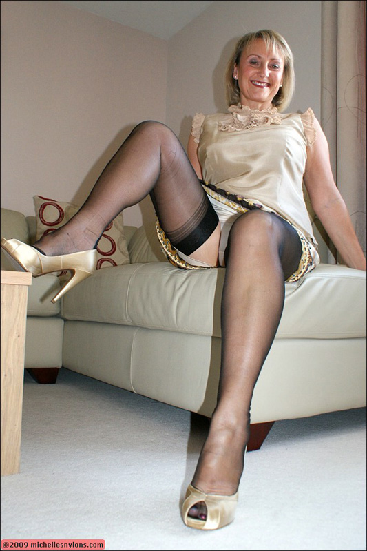 Housewives in black stockings