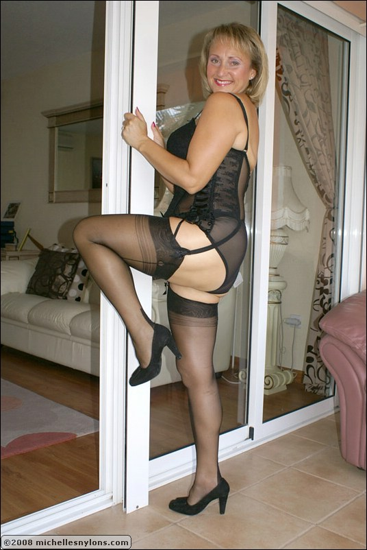 nylons Mature wives posing in