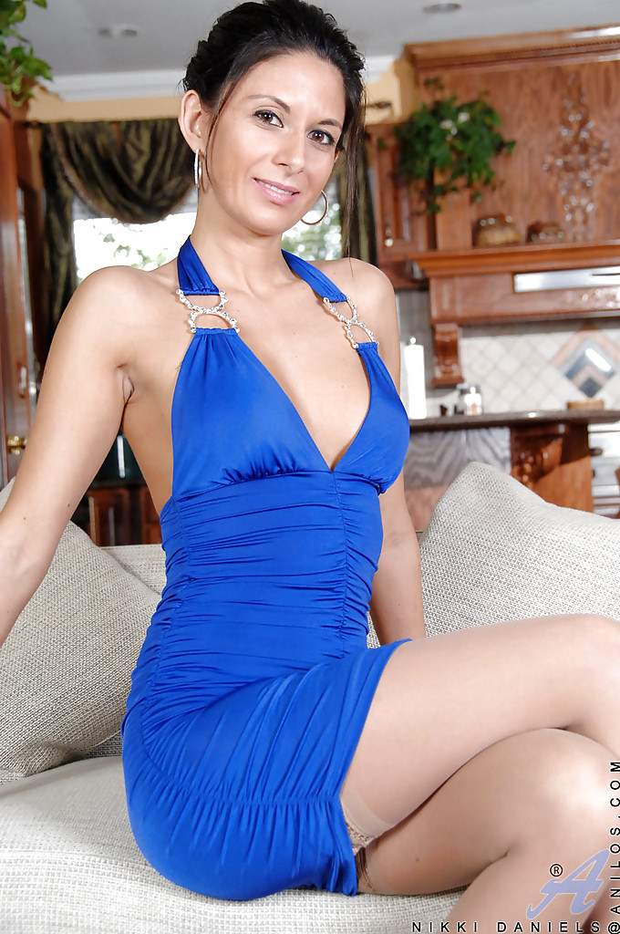 Mature sexy blue dress