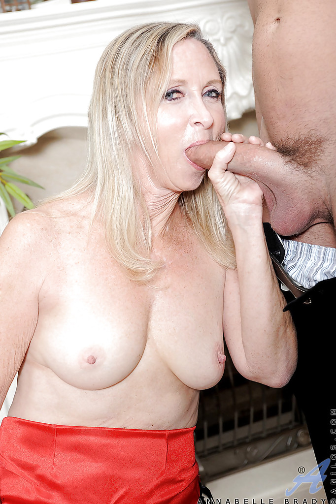 Mature blonde getting a load of cum