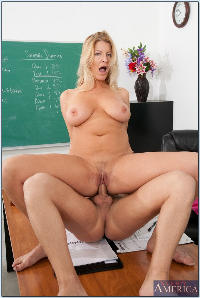 big blonde teacher - Hot blonde MILF teacher Robbye Bentley in hardcore reality porn.