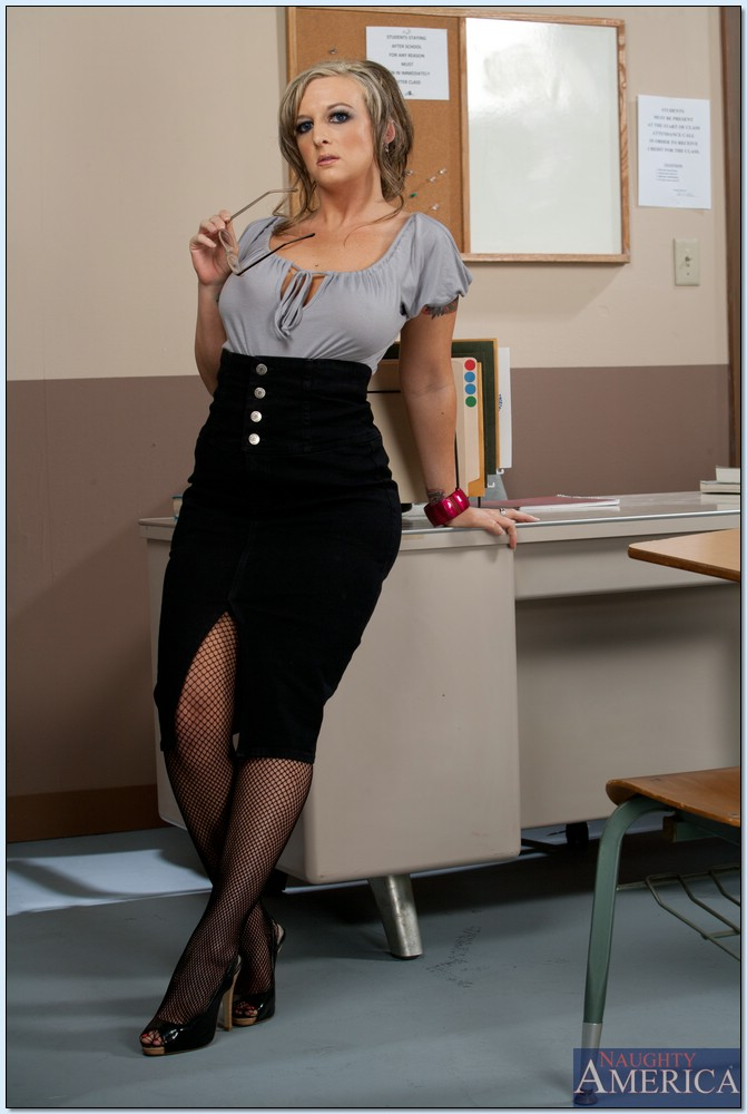 Teacher In Stocking